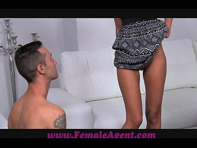 Pov Boobs xxx: FemaleAgent Amazing casting with delicious skinny stud