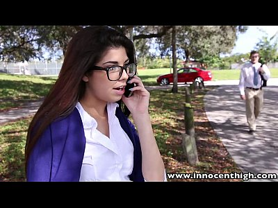 InnocentHigh Hot schoolgirl Ava Taylor in nerdy glasses fucked hardcore