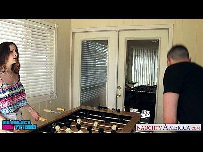 Brunette Fuck Hardcore video: Brunette cutie Ashley Adams gets nailed
