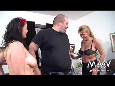 Bigtits Blonde Blowjob video: MMV FILMS Amateur Mature Threesome