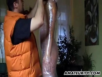 Bdsm Blowjob Brunette video: Tied amateur housewife homemade hardcore action