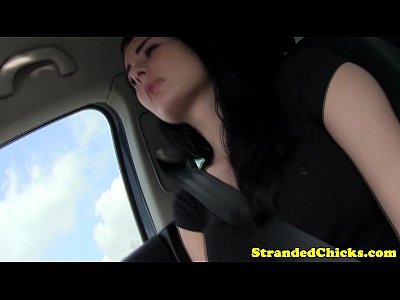 Public Outdoor Car video: Real stranded amateur getting load