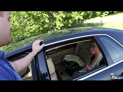 Blowjob Carsex Czech video: Girl leans out car window to suck cock