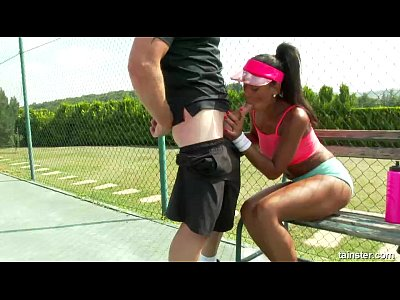 Ebony Isabella Sexy video: Isabella Chrystin Tennis Court Pounding 2015
