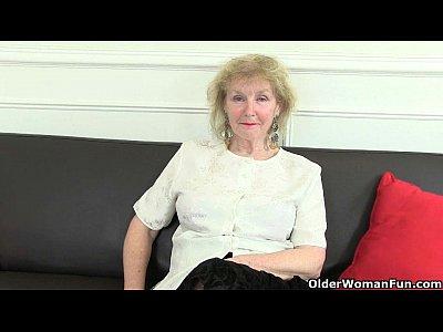 British Stockings video: British grandma's wicked ways