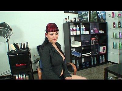 Hardcore anal sex with slut hairstylist
