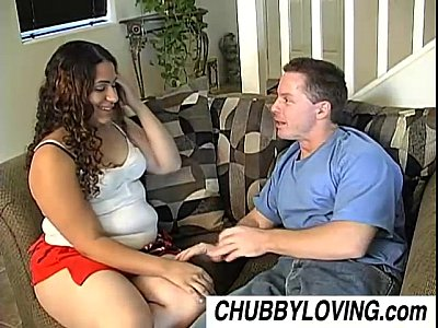 Chubby Chunky Cuddly video: Mercedez is a cute latina BBW that loves the taste of cum