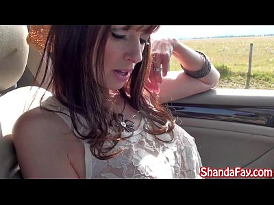 Blowjob Facial Milf video: Kinky Canadian Milf Shanda Fay Blows Hitch Hiker Outside!