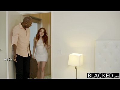 Redhead Gagging Riding vid: BLACKED Red Head Model Amarna Miller Interracial Creampie
