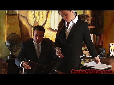 Redhead Office Secretary video: Classy redhead officebabe banged by the boss