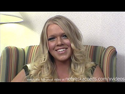 nervous iowa blonde does her first time video with me