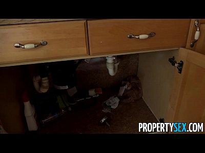 Bigcock Blowjob Boss video: PropertySex - House flipping real estate agent fucks her handyman