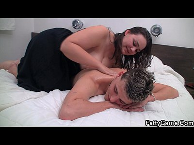 BBW massage leads to cock riding