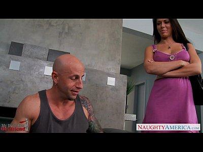 Blowjob Brunette Busty video: Busty gf Rachel Starr fucking