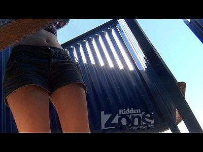 Baby Beachcabin Boobs video: sweet baby voyeur