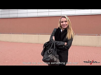 Czech Public Blonde video: Takevan Blonde rich chick caught and convinced by shopping mall to fuck in car