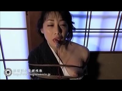 妖艶な逆さ吊り着物熟女!杉浦則夫緊縛桟敷(若林美保)【SM無料動画】