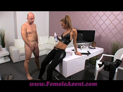 Boobs Casting Couch video: FemaleAgent Casting creampie for teasing agent