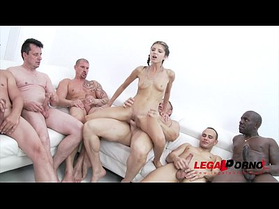 Babe Bigcocks Cumshots video: 10 man anal gangbang for Gina Gerson SZ993
