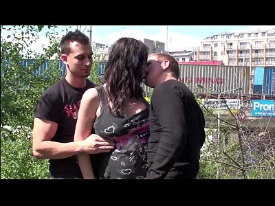 Tits Sex Boobs video: Pregnant pornstar Stella Fox AKA Maria Gwen PUBLIC sex gangbang threesome