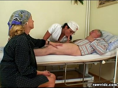 Brunette Threesome Mature video: Nubile Nurse Gets a Show
