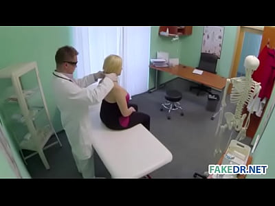 Sexy Blonde Patient Gets Fucked by Her Doctor