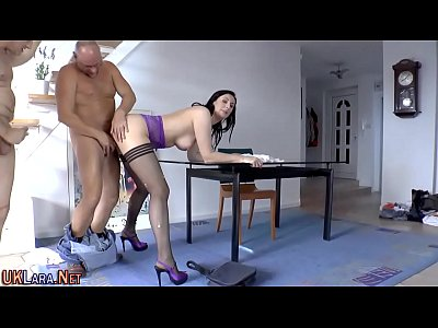British Classy Cumshot video: Stocking babe spunked on