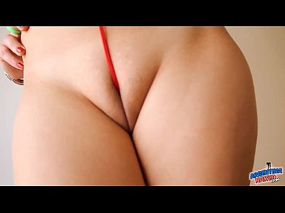 Teen Blonde Busty video: Natural Busty Blonde Teen With Big Pussy Lips and Round Ass!