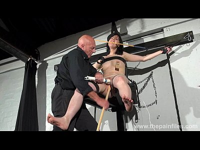 Fetish Brunette Domination video: Crossed bondage tit tortures and sexual domination of screaming brunette fetish