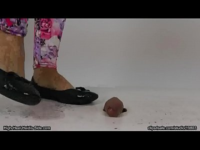 Footjob Cum movie: Luna Ballerina Flats Cock Crush