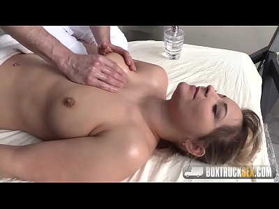 Brunette aroused by the masseur fucks him roughly