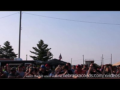 Exgirlfriend Firsttime Flashing video: interesting amateur pole stripping contest at a iowa biker rally