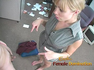 Ball Blonde Blowjob video: Sexy boss lady has some fun with a bad worker-6