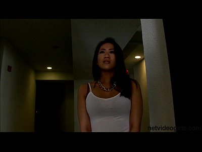 Interracial Asian Pov video: Cute Asian amateur gets roped into 3way