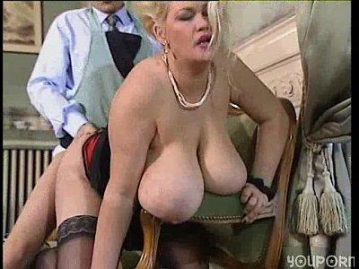Big tit blonde bbw gets a good fucking
