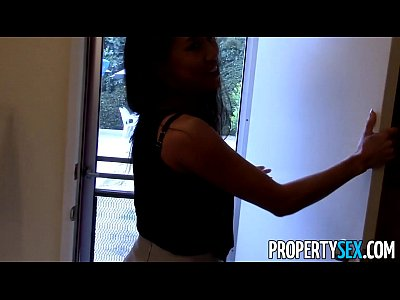 Blowjob Cumshot Doggystyle video: PropertySex - Hot Asian real estate agent tricked to fuck