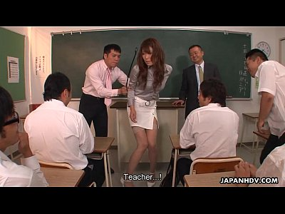 Hardcore Asian porno: Teacher Oshi getting fired and fucked for her job