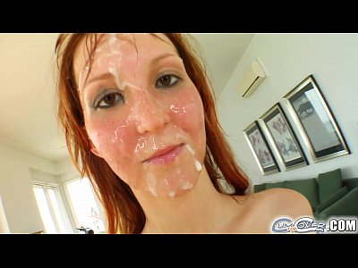 Facial Deepthroat Facialized video: Cum For Cover Redheads drenched in cum after 5 cock deepthroat