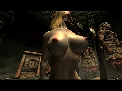 Gangbang Skyrim video: Skyrim - Imperial soldiers gangbang a sexy Nord - part2