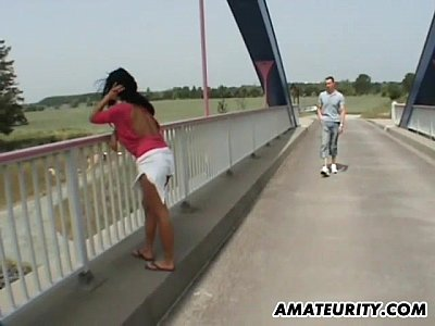 Asian Pov xxx: Busty German MILF Sucks and Fucks Outdoor on a Bridge