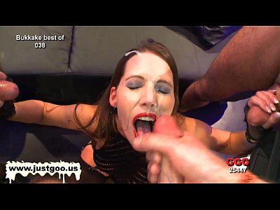 Bukkake Cumcovered Cuminmouth video: She is gorgeous and she likes bukkake