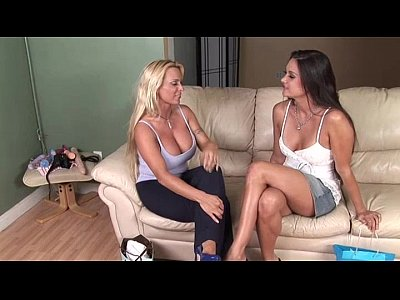 Fingering Tits Strapon video: Two hotties who use everything to come
