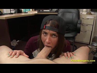 Amazing Brunette Teen Babe BJ & Pussy Fuck