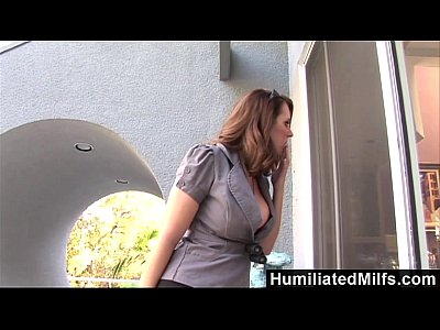 Hardcore Blowjob Brunette video: HumiliatedMilfs - Stalker Fucks the Bodyguard
