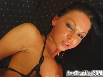 Sex Toys Facial video: Ass Traffic Kristina enjoys a glass plug and gets butt banged