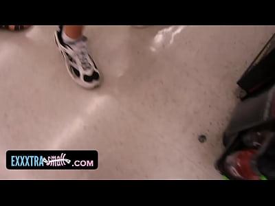 ExxxtraSmall Petite brunette teen Chi-chi Medina fucked big cock
