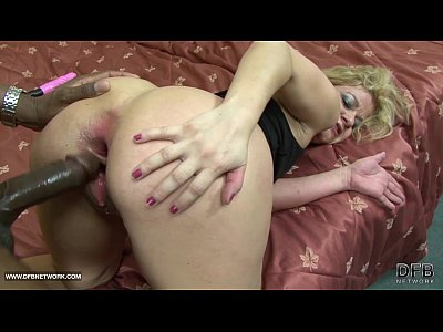 Interracial Black xxx: Old woman rough anal with cumshot interracial fuck big cock
