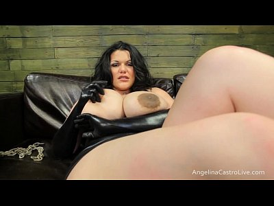 Fetish Brunette Milf video: Big Titted Angelina Castro Cocks Domination!