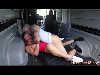 Bigcock Blindfold Bondage video: Bdsm skank fucked hard