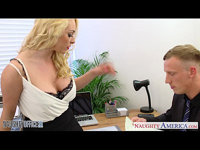 Blonde Shaved Milf video: Blonde Victoria Summers ride cock in the office